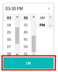 退館時間の退館時間の変更確定