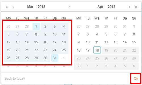 RECEPTIONIST来訪者記録DL日付指定