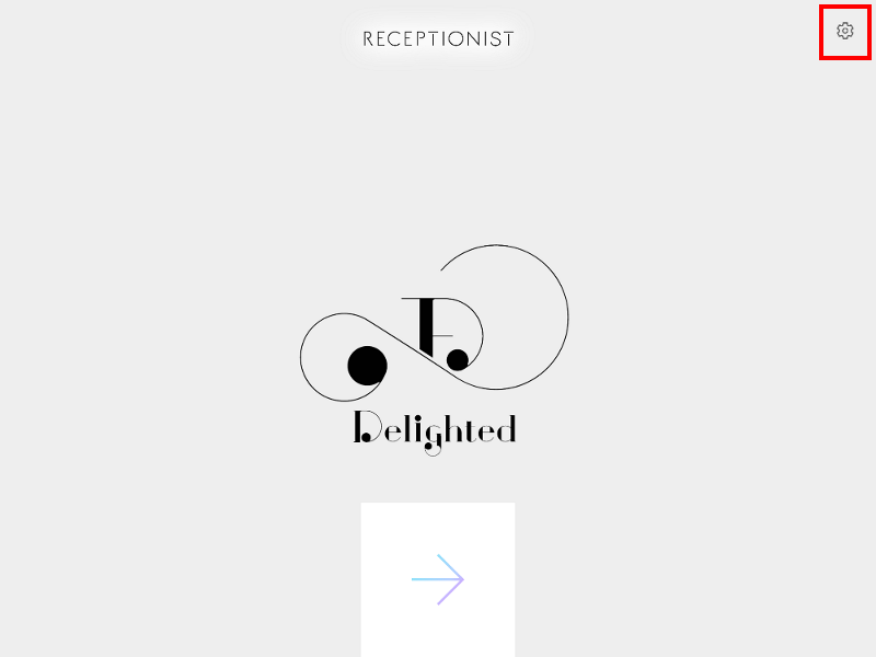 iPadログイン画面表示