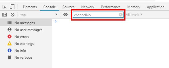 検索キーワードに『channelNo』入力