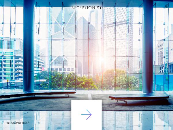 RECEPTIONISTiPad受付アプリ設定ロゴ
